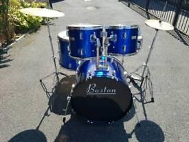 Boston Full Drum Kit inc Cymbals & hardware