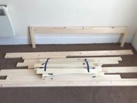 Double bed pine