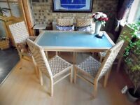 Every day Dining/Kitchen Table and six chairs. £65