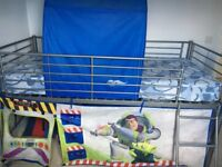 Mid sleeper bed Toy Story with immaculate mattress
