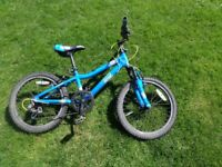 Kids CUDA BIKES ages 8 - 10 years BMX / Mountain bicycle 6 gears 20 inch wheel front suspension