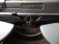 UNUSUAL Bluebird typewriter - with European letters = German & Polish accents - COLLECTORS