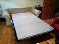 """Confortable double sofa bed for sale. """"190cmx90cm"""". Beige colour"""