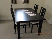 Barely Used Black Table & Chairs