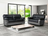 SPECIAL EDITION CANDY SOFAS ****** FREE UK DELIVERY ** MIXED COLOUR LEATHER CORNER SOFAS, SOFA SETS