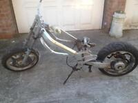 Honda Vfr750 F-L RC36 rolling frame chassis with full V5 vfr 750(other items for bike for sale to)