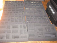 FLAMES OF WAR ARMY CARRY CASE AND 8 TRAYS COULD BE USED FOR BOLT ACTION FIGURES