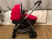 iCandy strawberry pram/pushchair (including bassinet, buggy, fleece etc - see pics)