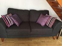 Dark Grey Two Seater Sofa