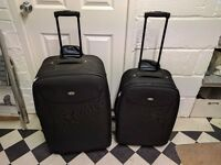 Pair of wheeled suitcases