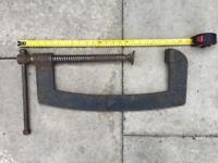Very large vintage G-clamp (garage/industrial/workshop/DIY)