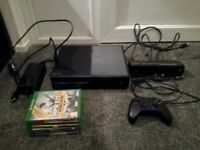Xbox One - 500gb - Kinect - 1 Controller and 6 Games.