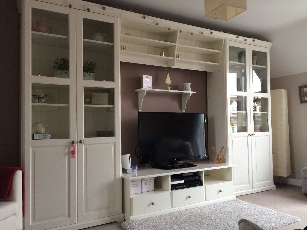 Ikea Liatorp Tv Unit And Display Cabinets In Daventry