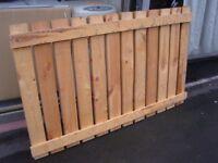 Heavy Duty Solid Wood Fencing Panels. Fence Panels 143 cm x 90 cm