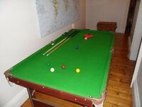 6ft x 3ft Snooker / Pool table.