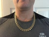 Mans 9ct gold 69grams curbed style chain swap what you got