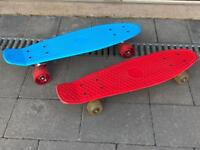 Pair of micro skateboards - Blue/Red