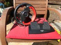Saitek R100 PC Game Steering Wheel & Pedals