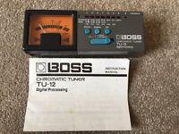 Boss TU-12 Chromatic Tuner from 1986