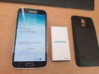 Samsung s5 unlocked with extra battery