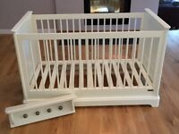 Mamas and Papas Orchard cot/toddler bed and matching shelf