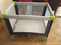 Baby start travel cot + Mamas and Papas foam mattress