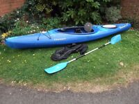 Dagger Blackwater Touring Kayak, Paddle & Spraydeck