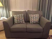 Pair of 2 seater sofas.