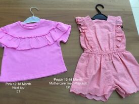 12-18 Months Next Top and Mothercare playsuit