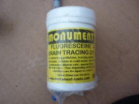 Monument Fluorescein drain tracing dye