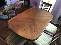 Lovely extending table and chairs