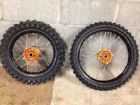 KTM 85cc Small Wheels (Gold Talon Hubs)