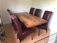 Large Dining Room table and 6 chairs