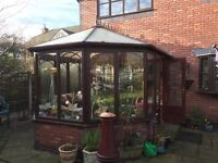 wooden conservatory,v. good condition,you need to professionally remove