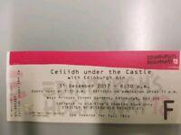 Edinburgh Hogmanay Celidh At The Castle Tickets x 4