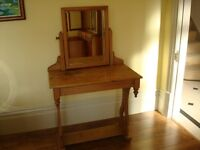 ***Antique Pine Dresser Table with Swing Mirror***