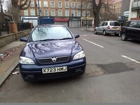 Vauxhall astra 2001 1.6l very clean and reliable i drives very well taxed insured but mot ranout