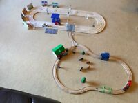 WOODEN ROAD AND RAIL SET