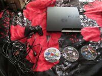 PS3 SLIM CECH- 2503B 320 GB CONSOLE BUNDLE,3 GAMES WHICH ARE SONIC GENERATIONS,L.A.NOIRE ETC
