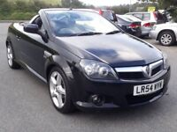 VAUXHALL TIGRA 1.4 16V SPORT CONVERTIBLE, 2004 '54, 106K, FSH, ELECTRIC ROOF, LEATHER, A/C, SUPERB