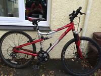 "Apollo FS26 mountain bike, 21 speed, 17"" frame"