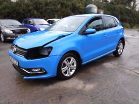 2016 VW Polo 1.0 Match 5 door *** damaged repairable ***