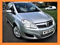 Vauxhall Zafira 1.6 i 16v Life 5dr HPI CLEAR,LONG MOT