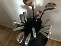 Good quality golf clubs and carry bag