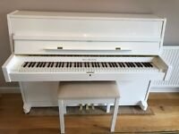 Modern Upright Waldstein piano - polished/gloss white - excellent condition