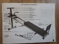 Total Trainer fitness Machine (two photos)