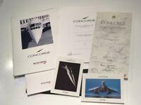 Concorde Flight Memorabilia items