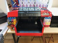Resolute DTG RJet 5 Printer Heat Press Pre-Treat Studio Set Up Press PC Adobe CS6