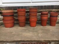 50 ASSORTED BROWN Plastic PLANT POTS