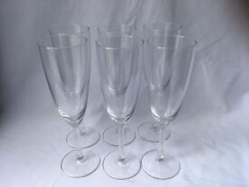 6 x champagne glasses